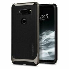 LG V30 Case, Spigen Neo Hybrid Dual Layer Shockproof Protective Cover - Gunmetal