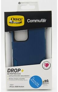 """Otterbox Commuter Series Dual-Layer Case for the Iphone 12 & 12 Pro 6.1"""" Blue"""