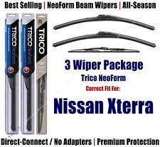 3-Pack Wipers Front & Rear - NeoForm - fit 2000-2004 Nissan Xterra 16190x2/30130