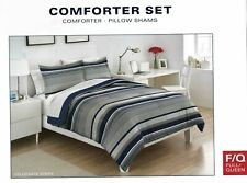 BRAND NEW IZOD IZOD Collegiate Stripe Full/Queen Blue Comforter Set
