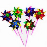 Plastic 10pcs Packing Small Colorful Pinwheel Wind Spinner Windmill Flower