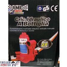 CRIC CRICK IDRAULICO A BOTTIGLIA MARTINETTO IDRAULICO VERTICALE 2 TON AUTO RUOTE