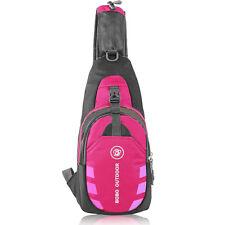 Men Small Chest Bag Pack Travel Hiking Sports Shoulder Women Backpack Cross Body