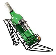 High Heeled Black Metal Wine Bottle Holder: W-31.5xH-18xD-9.7cm: Chic Decor/Gift