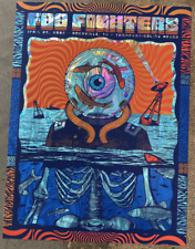 Foo Fighters 4/20 2020 Knoxville Holo Swirl Foil Poster Print Artist Signed x/35