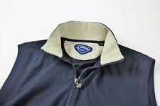 Callaway Golf Navy Blue Full Zip Vest Jacket Mens Size Medium Zip Pockets M