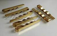Brass Gold Tone Colour Tie Clip Slide Bar Not Polished