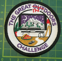 The Great Out Indoors Challenge Badge Patch Girl Guides Scouts Sew Camp Blanket