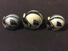 3 CAROLINA PANTHERS FOOTBALL HELMETS NFL MINI GUMBALL HELMETS