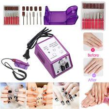 Professional Electric Nail File Drill Manicure Tool Pedicure Machine Set, Purple