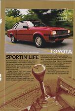 Original 1982 Toyota Corolla Magazine Ad - Sportin' Life