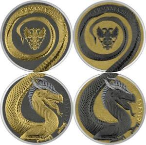 Germania 2020 2x5 Mark Germania Beasts Geminus Fafnir 2x1oz 9999 Silver Coin Set