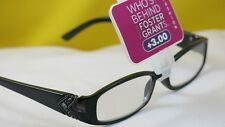 New $19.99 Foster Grant Designer Women Reading Eyeglasses-+3.00-Victoria Black