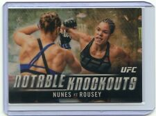 2018 TOPPS CHROME UFC SUPERFRACTOR #1/1 RONDA ROUSEY VS AMANDA NUNES