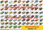 Matchbox Series 1-75 all models A3 size 1969 Poster Shop Sign Advert Leaflet