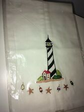 Lighthouse Coast Shells Beach Hanging  Crochet Top Kitchen Towel