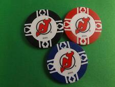 NEW JERSY DEVILS NHL HOCKEY POKER CHIPS COLLECTOR LOT 3 PIECES