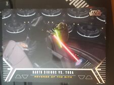 Star Wars 2012 Galactic Files 1 Duel of Fate #DF-6 Darth Sidious Vs. Yoda