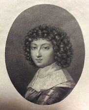 Philippe d' Orléans  Jean Petitot gravé par Ceroni 1868 Miniature Louis XIV