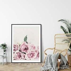 Flower Print,Peony Art Wall Print,Pink Peony Bedroom Decor,Home Room Decor Print