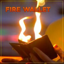 Magician's Fire Wallet Flames On Men's Wallet Close Up Stage Real Magic Trick
