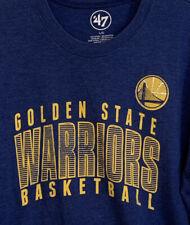 Golden State Warriors 47 Brand Men's Blue T Shirt size Large