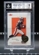 2001 Fleer Authority #101 MICHAEL VICK RC (Falcons) BGS 9 MINT *1097/1350