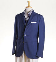 NWT $1375 BOGLIOLI Blue Lightweight Wool 'K Jacket' 40 R (Eu 50) Sport Coat