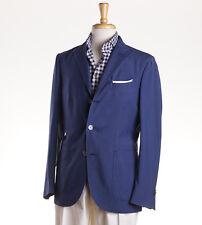 NWT $1375 BOGLIOLI Blue Washed Wool 'K Jacket' 40 R (Eu 50) Sport Coat