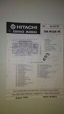 Hitachi trk-w55h hc service manual original repair book stereo boombox radio