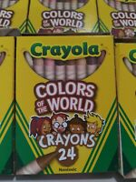 10 Boxes Crayola Crayons MULTICULTURAL 24 Pack -Colors of The World - NEW