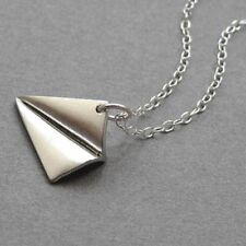 Cute Necklace Origami Aircraft Shape Paper Airplane Pendant Clavicle Chain