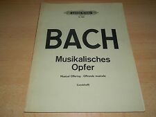 Klavier Noten - BACH - Musikalisches Opfer - Edition Peters 4202