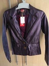 BNWT Lovely NO ADDED SUGAR Shiny Purple metallic jacket age 9-10 years