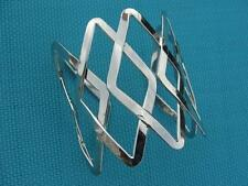 SUPER Fabulous Silver Cage Cuff Bracelet (49.5grams) Adjustable