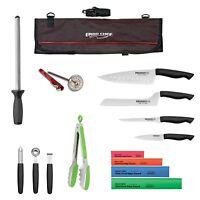 15pc. Prodigy knife kit Professional Chef knife set complete roll bag knife kit