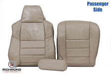 2003-2004 Ford F250 F350 Lariat -Passenger Side Complete Leather Seat Covers Tan