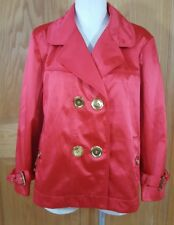 Chaus Women's Red Fully Lined Jacket Coat Size 16