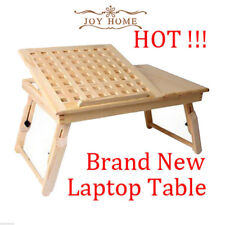 Notebook Bed Desk Table Pinewood Adjustable Portable Folding Laptop Furniture