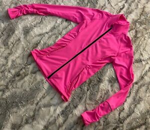Victoria's Secret VSX Sport Sexy Knockout Jacket Size XS Hot Pink Fitted Zip-Up