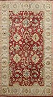 Floral Traditional Oushak Oriental Area Rug Hand-knotted Wool Kitchen Carpet 3x5