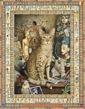 More details for egypt egyptian cat print large canvas picture poster painting new geoff tristram