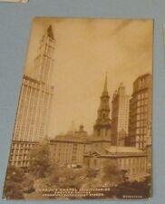 1916 St. Paul's Chapel Trinity Parish New York RPPC Postcard Program Levick Pic