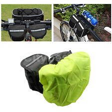 4in1 Bike Bicycle Cycling Front Frame Tube Saddle Pannier Pouch bottle Bag Cover