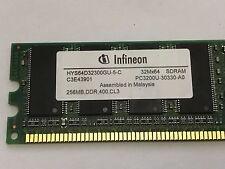 INFINEON 256MB DDR 400 CL3 PC3200U-30330-A0 HYS64D32300GU-5-C SDRAM DESKTOP RAM