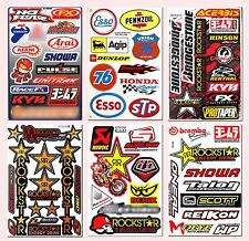 Rockstar Energy Stickers Graphic Kits Motocross MotoGP Race Gas Sponsor Decals