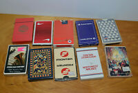 VINTAGE AIRLINE PLAYING CARD LOT ADVERTISING LAS VEGAS DELTA FRONTIER SINGAPORE