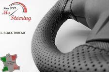 FOR FREIGHTLINER CORONADO SERIES MODEL-BLACK PERF STEERING WHEEL COVER DIFF STIT