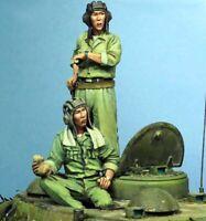 1/35 Resin Vietnamese Army 2 Tank Commanders unpainted unassembled BL949