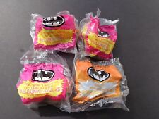 1991 McDonald's Batman Happy Meal Toys Lot of 4 Bagged Sealed Toys